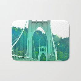 St. Johns Bridge Portland Oregon Bath Mat