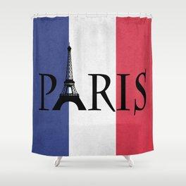 Grunge Paris Shower Curtain