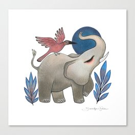 Save the Elephants Canvas Print