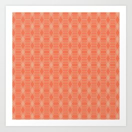 hopscotch-hex tangerine Art Print