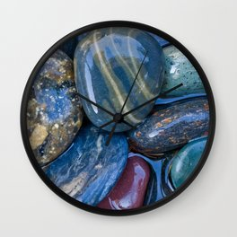 Stone pebbly Wall Clock