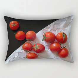 Red ripe tomatoes Rectangular Pillow