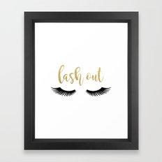 Lash Out Framed Art Print