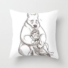 IRL teddybear Throw Pillow