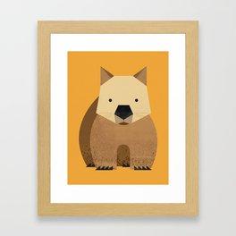 Whimsy Wombat Framed Art Print