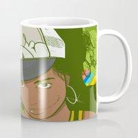 lou reed Mugs featuring Lou by Mega