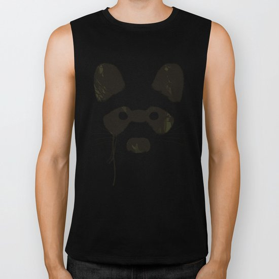 Raccoon {Light} Biker Tank