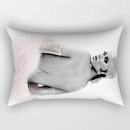Fashion Illustration - Rihanna Rectangular Pillow