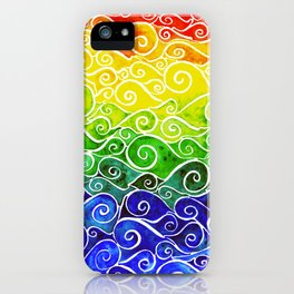 Rainbow Water Waves iPhone Case