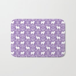 Chow Chow silhouette floral dog breed gifts chow chows pure breed Bath Mat