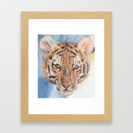 baby tiger Framed Art Print