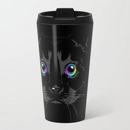 Black cute cat Travel Mug