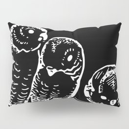 Three birds | Pudgies | Black Birds | Black Parakeets | Dark Arts Pillow Sham