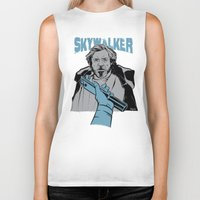 luke hemmings Biker Tanks featuring Luke Skywalker by Szoki