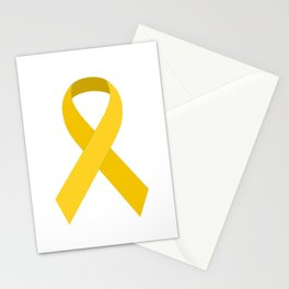 Yellow Awareness Support Ribbon Stationery Cards