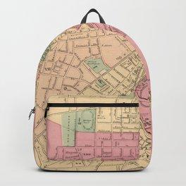 Vintage Map of Worcester MA (1871) Backpack