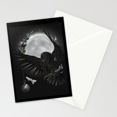solar owls moon  Stationery Cards