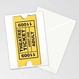 Theatre Ticket Stationery Cards