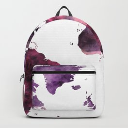 World Map Pink Purple Backpack