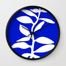 blue stem Wall Clock