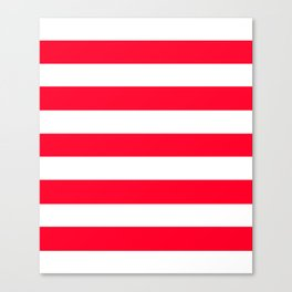 Ruddy - solid color - white stripes pattern Canvas Print