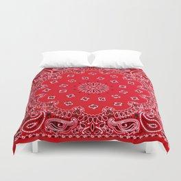 Paisley - Bandana Art - Red - Southwestern Duvet Cover