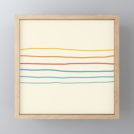 Bright Classic Abstract Minimal 70s Rainbow Retro Summer Style Stripes #1 Framed Mini Art Print