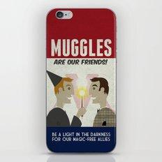 Muggles Are Our Friends (HP Propaganda Series) iPhone & iPod Skin