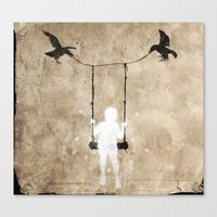 led zeppelin Canvas Prints featuring led by Seamless