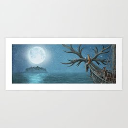 An Island Appeared Art Print
