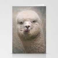 alpaca Stationery Cards featuring Alpaca! by Pauline Fowler ( Polly470 )