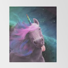 Sassy Unicorn Throw Blanket