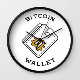 Bitcoin Wallet Wall Clock