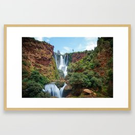 Ouzoud Falls in Morocco Framed Art Print