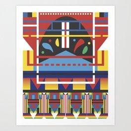 Triple Three Art Print