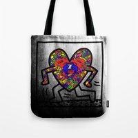 keith haring Tote Bags featuring Keith Haring by men90