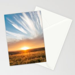 Grand Exit - Golden Sunset on the Oklahoma Prairie Stationery Cards