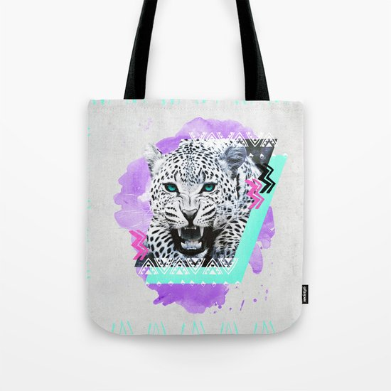 Fierce Leopard Tote Bag