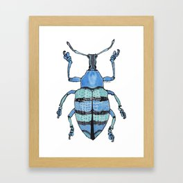 Upholstered Blue Weevil Framed Art Print