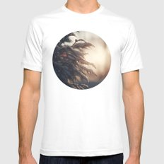 Winter Morn MEDIUM White Mens Fitted Tee