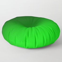 Black and Lime Gradient Floor Pillow