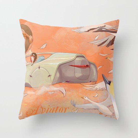 Aviator Orange Throw Pillow