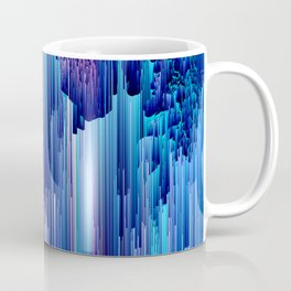 Beglitched Waterfall - Abstract Pixel Art Coffee Mug