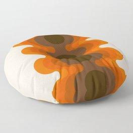 Echoes - Golden Floor Pillow