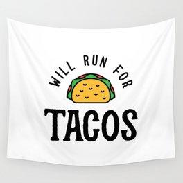 Will Run For Tacos v2 Wall Tapestry