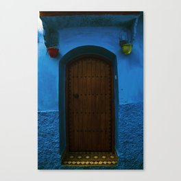 Doors to the blue side Canvas Print