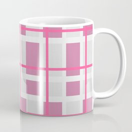 Retro Pink Plaid Pattern Coffee Mug