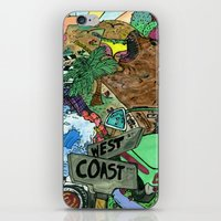 west coast iPhone & iPod Skins featuring west coast. by Late Bloomer