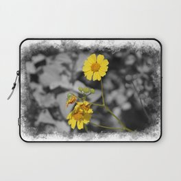 Butter Yellow Brittle Bush on Gray Selective Color Laptop Sleeve