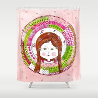 virgo Shower Curtains featuring Virgo by Sandra Nascimento